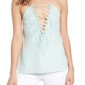 WAYF Posie Strappy Camisole Mint Criss Cross Top
